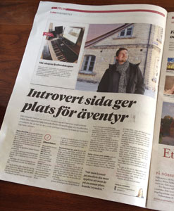 Interview in local newspaper Hallå Lund with Stefan Strand